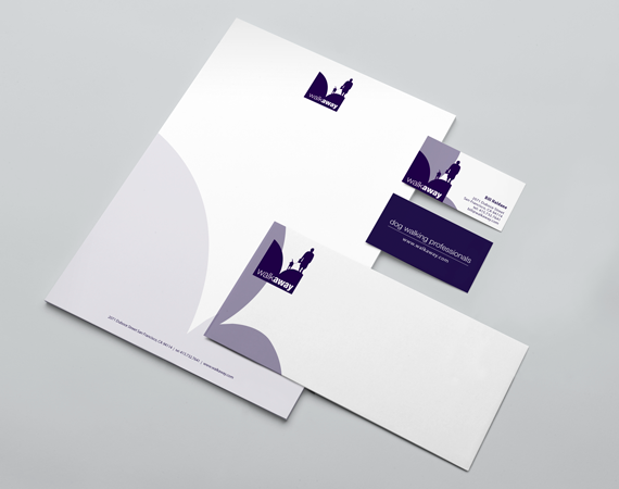 WalkAway Logo, Business Card, and Stationary